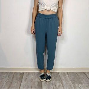 J. CREW Reese pants elastic waist drapey cropped